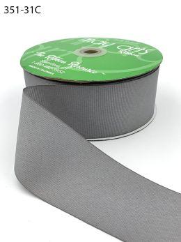 gray silver wide grosgrain ribbon