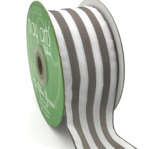 gray and white striped woven ribbon