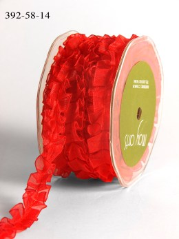 Red Ruffle Organza Ribbon