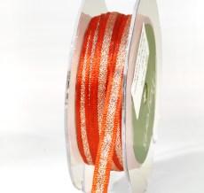 Bittersweet and silver metallic ribbon