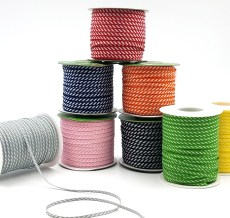 Diagonal Stripes Woven Ribbon