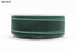 Green white stitches Organza Ribbon