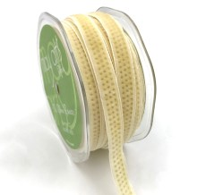 gold metallic polka dot ivory velvet ribbon
