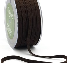Brown Elastic Ribbon