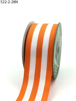Orange Striped Grosgrain Ribbon