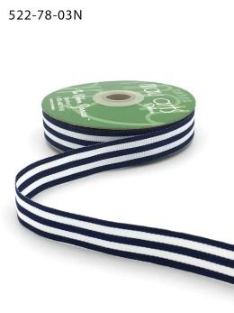 black and white striped grsograin ribbon