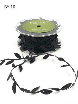 black leaves ribbon