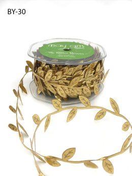 metallic gold leaf ribbon