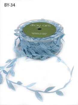 light blue leaves ribbon