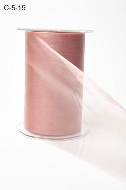 mauve pink shimmer wide organza ribbon