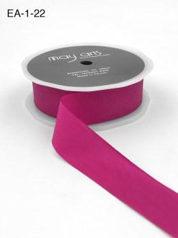 fuchsia pink faux silk wrinkled nylon ribbon