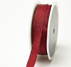 Burgundy Solid Wrinkle Ribbon