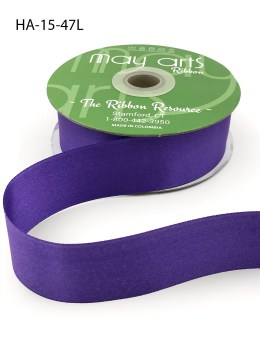 violet purple double face satin ribbon