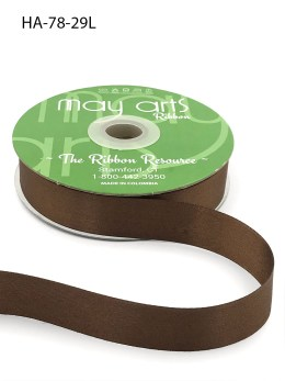 light brown double face satin ribbon