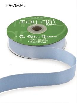 light blue double face satin ribbon