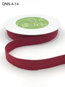 red twill cotton ribbon