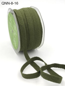 olive green twill cotton ribbon