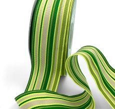 neon green olive celery lime striped grosgrain ribbon