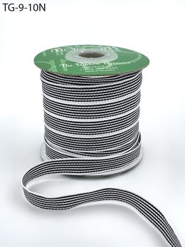 black and white grosgrain stripe ribbon