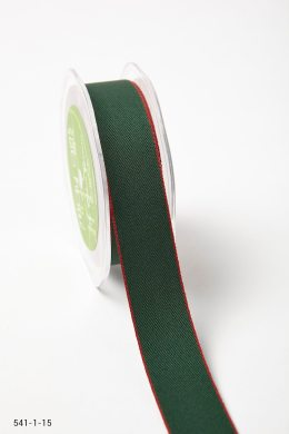 Green/Red Solid With Color Edge Ribbon