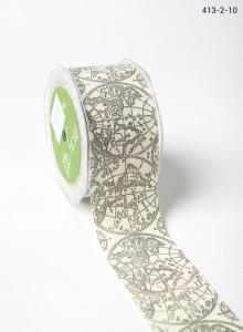 Black globe Ivory Canvas w/ Print Ribbon
