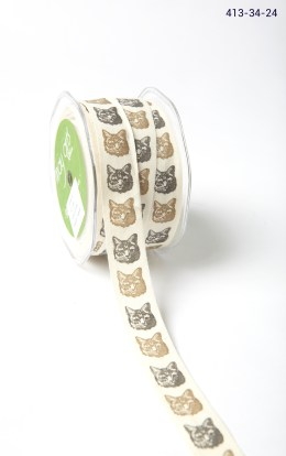 cat print cotton ribbon
