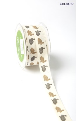 rabbit print cotton ribbon
