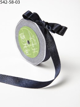 Navy Glitter Ribbon