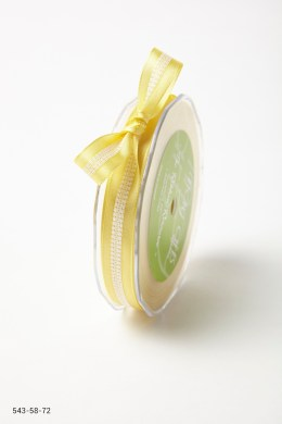 Yellow Solid with White Stitched Center Ribbon