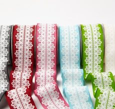 White Lace Center Design Ribbon