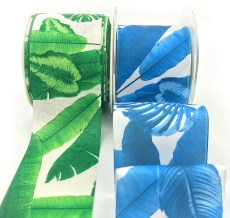 torpical leaf banana leaf Hawaiian palm ribbons