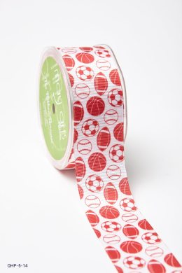 Red Grosgrain w/ Print Ribbon