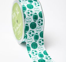 Forest Green Grosgrain w/ Print Ribbon
