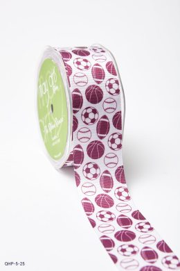 Burgundy Grosgrain w/ Print Ribbon