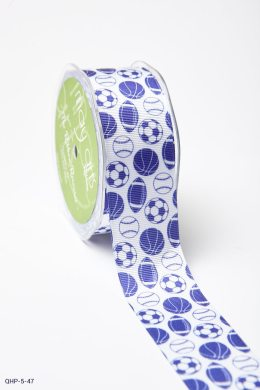 Purple Grosgrain w/ Print Ribbon