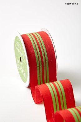 "1.5"" 425H-15-45 RED/GREEN CENTER STRIPE"