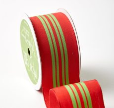 "1.5"" 425H-15-45 RED/GREEN CENTER STRIPE"