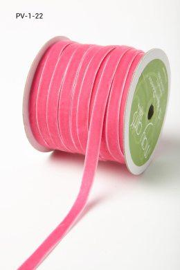 Fuchsia Velvet/Woven Ribbon