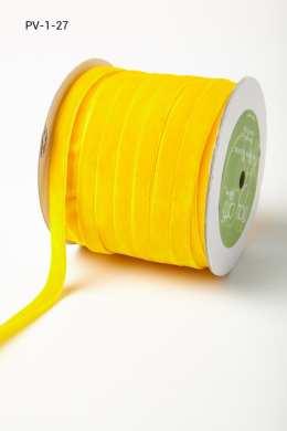 Yellow Velvet/Woven Ribbon