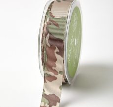 Multicolor Camo Grosgrain w/ Print Ribbon