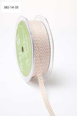 Light Brown Twill Ribbon w/ Chevron Stripes