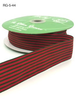 red and green christmas striped grosgrain ribbon