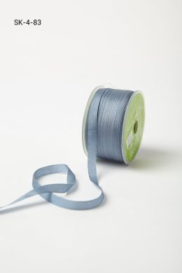 Blue Grey Silk Ribbon