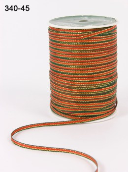 RED/GREEN/GOLD Solid Ribbon Colored Edge Ribbon