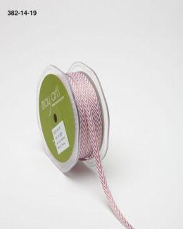 Mauve Twill Ribbon w/ Chevron Stripes