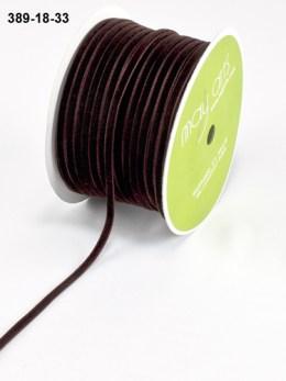 brown velvet string cord