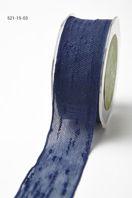Navy Frayed Thread Ribbon