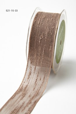 Taupe Frayed Thread Ribbon