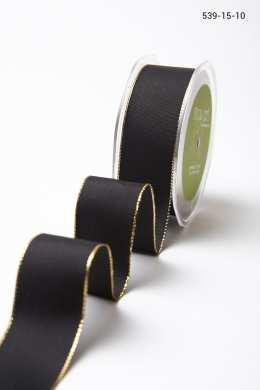 Black Gold Edge Solid with Metallic Edge
