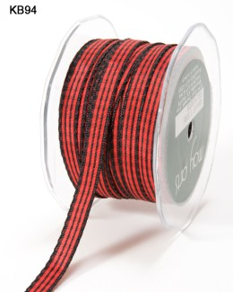 red and black checkered gingham ribbon